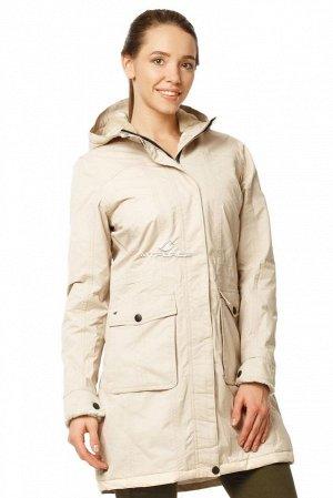 Куртка парка демисезонная женская ПИСК сезона бежевого цвета