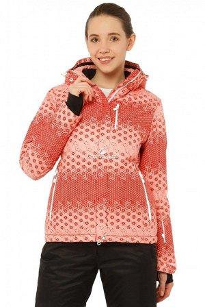 Куртка горнолыжная женская персикового цвета