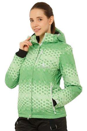 Куртка горнолыжная женская зеленого цвета