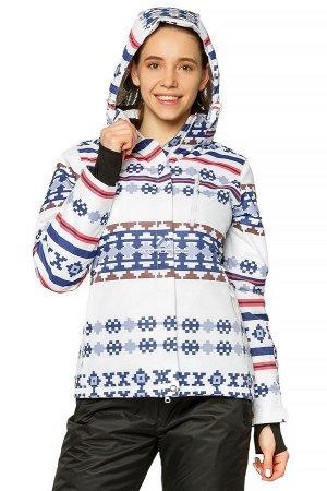Куртка горнолыжная женская белого цвета