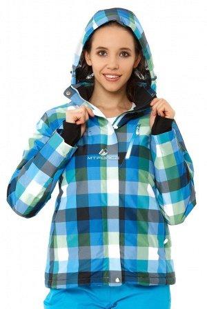 Куртка горнолыжная женская голубого цвета