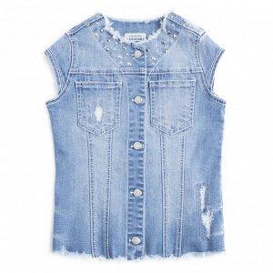 Жилет джинсовый для девочек р. 116