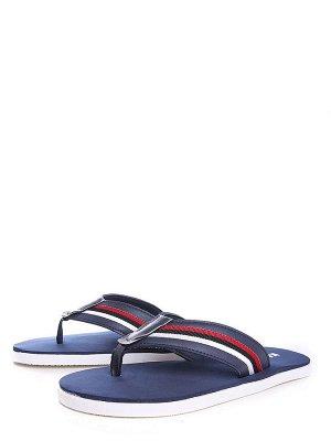 синий иск.кожа мужские туфли открытые