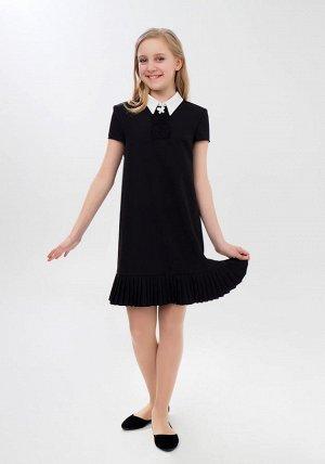 Платье школьное,  черное.