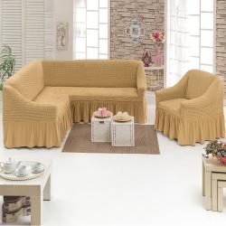 Чехол для мебели 2 предм, медовый