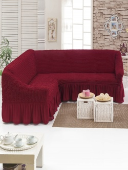 Чехол для мебели угловой, бордовый
