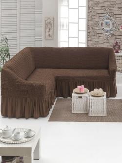 Чехол для мебели угловой, шоколад