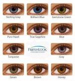 Оттеночные цветные контактные линзы FreshLook ColorBlends 2 линзы Нулёвки и диоптр