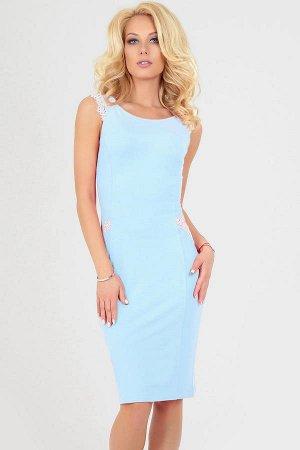 Платье 1792.2 голубое