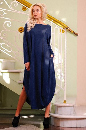 Платье 2424.86 тёмно-синее
