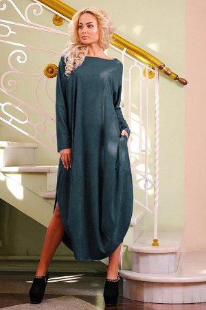 Платье 2424.86 тёмно-зеленый