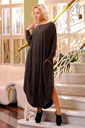 Платье 2424.86 коричневое