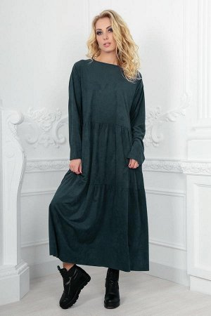 Платье 2403.86 темно-зеленое