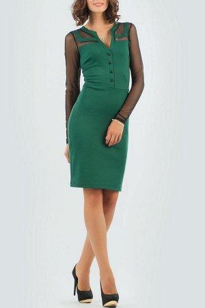 Платье 2456.47 темно-зеленое