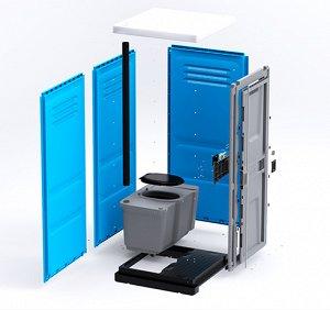 Туалетная кабина ToypeK синяя разобранная