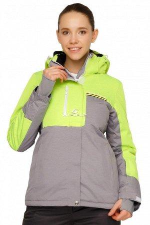 Куртка горнолыжная женская салатового цвета