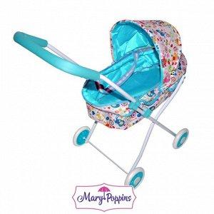 "Mary Poppins. Коляска арт.67316 люлька ""Фантазия"" с корзиной, голуб., 62*35*68см"