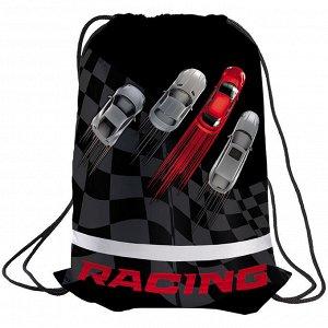 """Мешок для обуви 1 отделение Berlingo """"Racing"""", с сеточкой, светоотражающая полоса"""