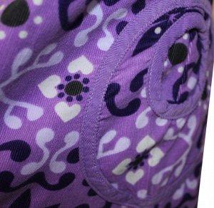 Сарафан Материал: вельвет. Цвет сиреневый. С ярким цветочным принтом, имеются два кармана накладных, спинка до середины на пуговках