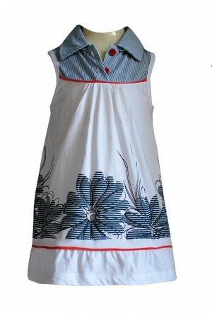 Платье Материал: 100% хлопок. Платье без рукавов с цветочным принтом.