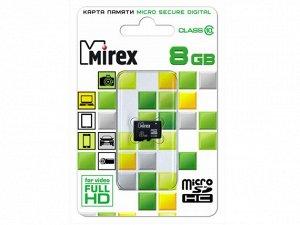 Карта памяти MicroSDHC MIREX 8GB cl10, 13612-MC10SD08 recommended