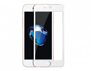 Защитное стекло iPhone 6/6S Plus 5D (тех упак) белое