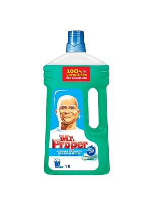 MR PROPER Моющая жидкость для полов и стен Горный ручей и прохлада 1л