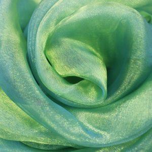 Штора-органза голубого цвета