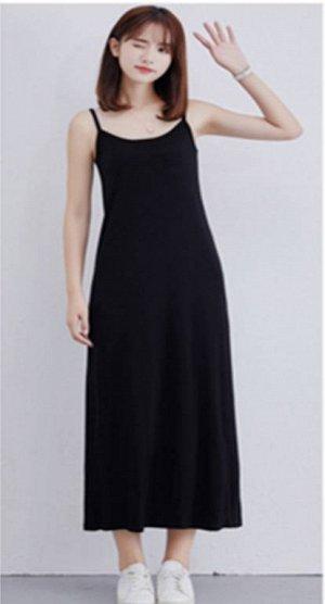 Платье-майка цвет: ЧЕРНЫЙ. Размер: (длина