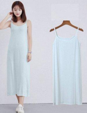 Платье-майка цвет: ГОЛУБОЙ. Размер: (длина