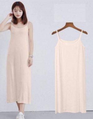 Платье-майка цвет: АБРИКОС. Размер: (длина