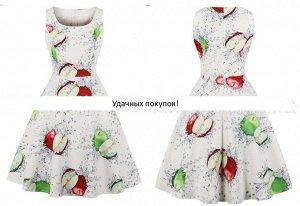 Платье цвет: ЯБЛОКО