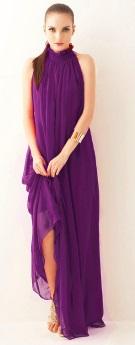 Платье-макси в греческом стиле без рукавов Цвет: ФИОЛЕТОВЫЙ