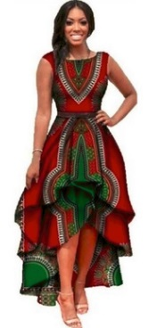 Асимметричное платье с принтом без рукавов Цвет: БОРДО