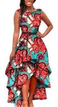 Асимметричное платье с принтом без рукавов Цвет: ГОЛУБОЙ
