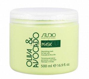 Питательная маска для волос с маслом авокадо и оливы, 500 мл