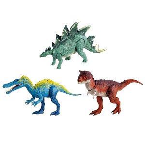 Динозавр с двумя кнопками, бьёт головой и хвостом.