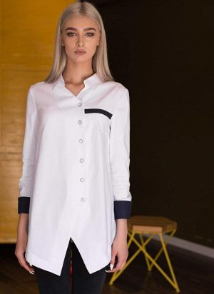 Блуза офисная белоснежная