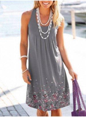 Платье цвет: СЕРЫЙ