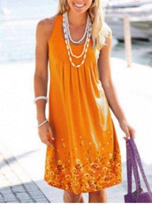 Платье цвет: ОРАНЖЕВЫЙ