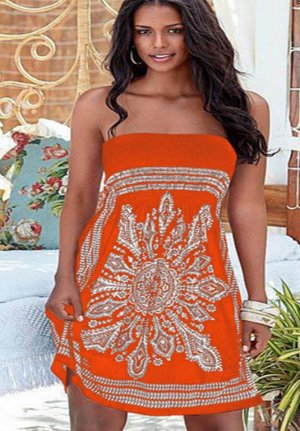 Платье цвет: ОРАНЖЕВО-КРАСНЫЙ
