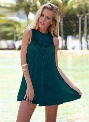 Платье цвет: ТЕМНО-ЗЕЛЕНЫЙ