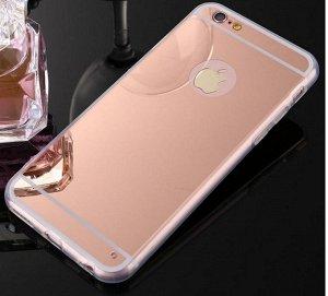 Чехол силиконовый зеркальный розовое золото Samsung Galaxy а 50