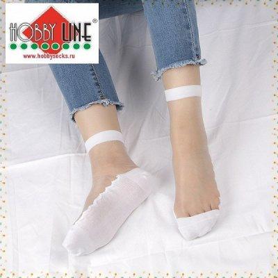 Уютная одежда: колготки до 600ден, носки, перчатки для всех  — Носки женские стеклянные-хрустальные — Носки
