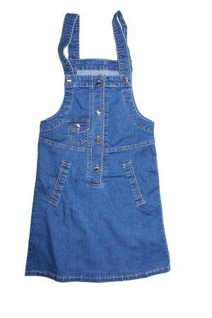 Сарафан Классический сарафан из синей джинсовой ткани.