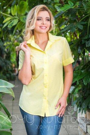 "Блузка Жёлтая. Размер 56. ТД ""Хочу Платье"""