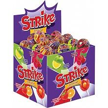 Карамель на палочке «Strike» с жевательной конфетой