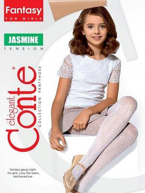 "Jasmine  Колготки детские,полиамидные, 20 ден, рисунок ""ромашки""(Conte)/11/"