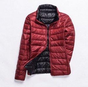 Куртка женская ДВУХСТОРОННЯЯ, цвет бордо/черный