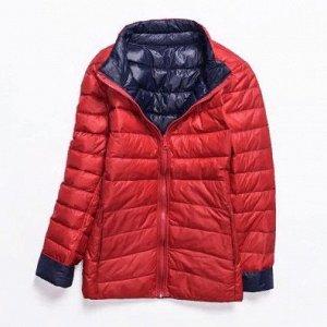 Куртка женская ДВУХСТОРОННЯЯ, цвет красный/синий